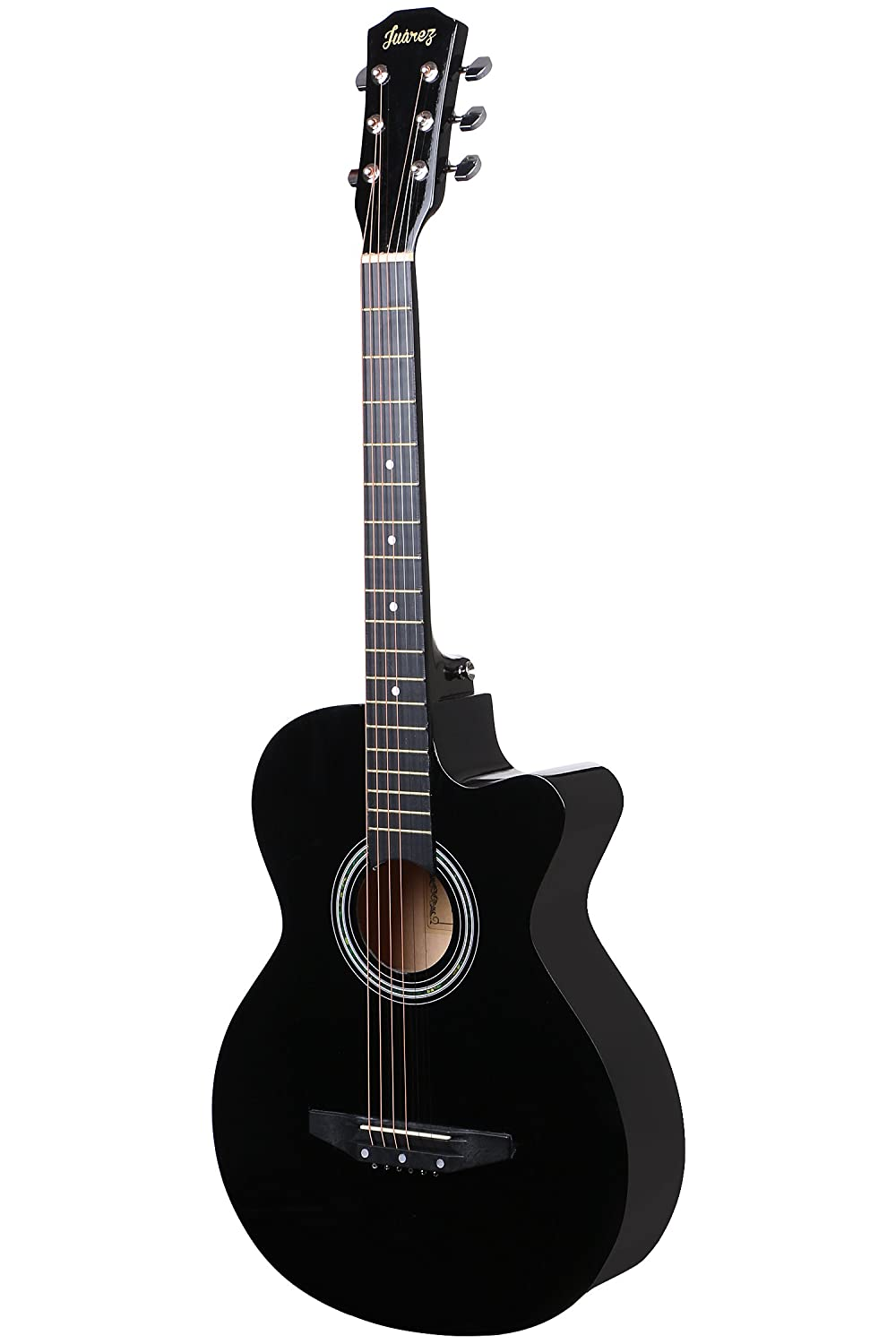 Juarez Acoustic Guitar 38 Inch Curved Body Cutaway 38cur With Bag