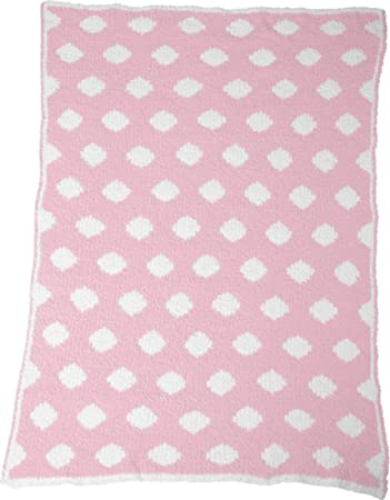 37c09381fd5 Amazon.com  Colorado Clothing Crib Clouds Chunky Chenille Polka Dot Baby  Blanket. 2134 - Kiss Pink   White  Baby