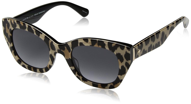 fb9c907b19f7 Amazon.com  Kate Spade New York Womens Jalena S Black Leopard Dark Grey  Gradient One Size One Size  Clothing