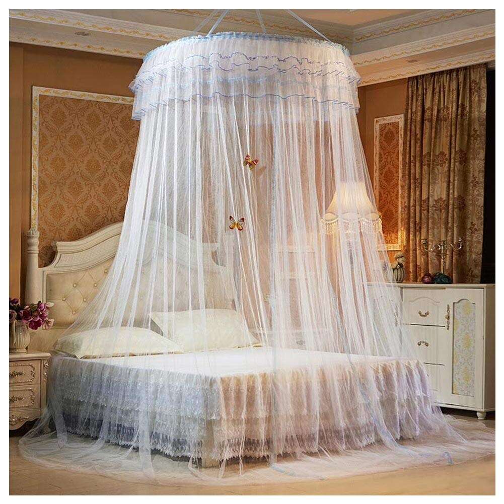 Mosquito Net - 2018 Romantic Hung Dome Princess Students Insect Bed Canopy Lace Round Curtain Hammock Baby Kid Dossel