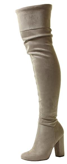Donna tacco alto cavallerizzo pirata stivali sopra il