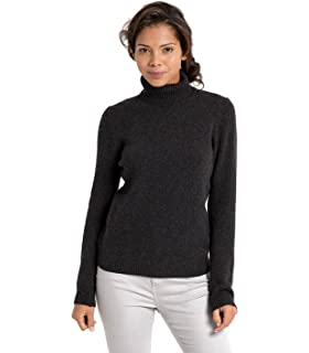 da440a349ad6bd Woolovers Womens Lambswool Polo Neck Roll Neck Chunky Knitted Long Sleeve  Sweater 6-20