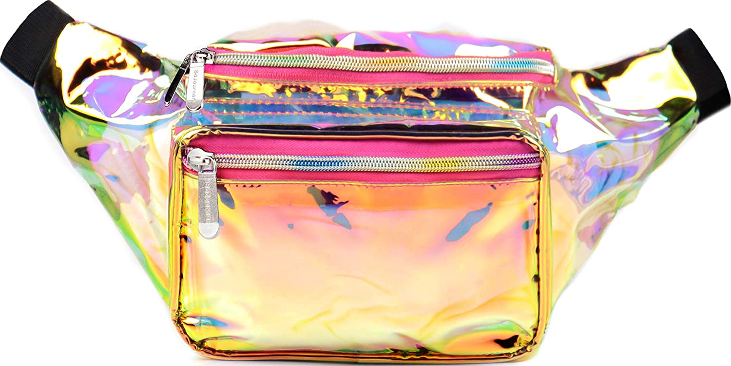 be55f9e2b0bf Amazon.com | SoJourner Holographic Rave Fanny Pack - Packs for ...
