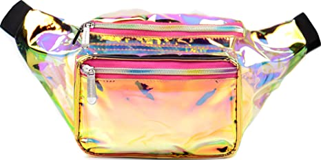 9325f10cab3 Amazon.com   SoJourner Holographic Rave Fanny Pack - Packs for ...