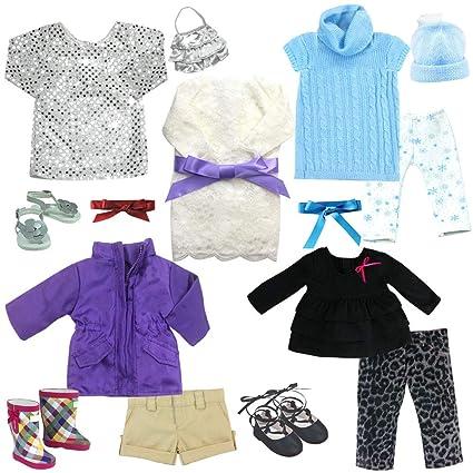 Amazon.com: Sophias - Juego de ropa de muñeca de 16 piezas ...