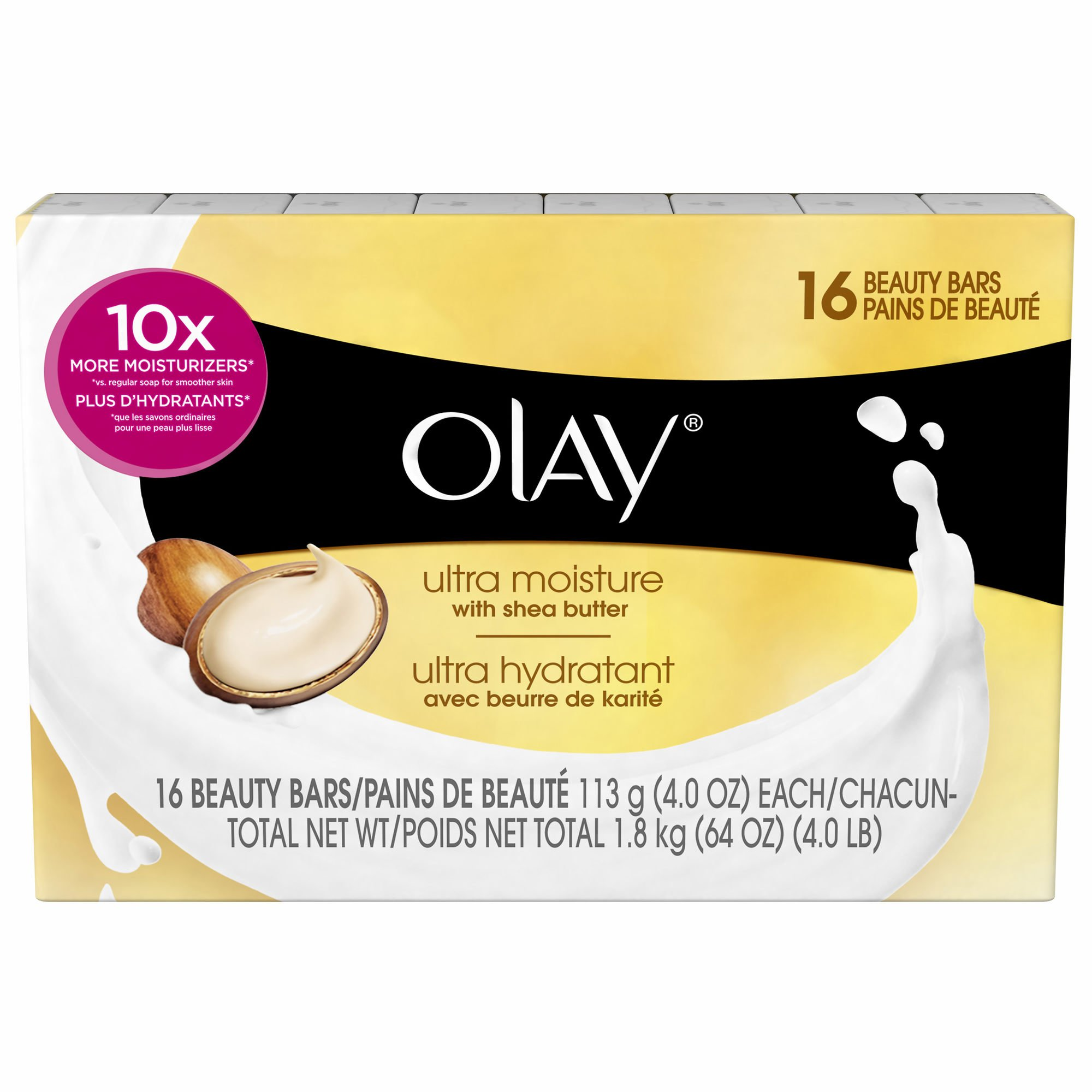 Olay Ultra Moisture Beauty Bars Soap, 16 ct./4 oz. ( 2 pack ) ( 32 Bars total ) by Olay