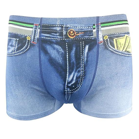 Sharplace Bóxer 3D de Algodón de Hombre Underwear Ropa Interior de Hombres Pantalones Cortos de Vaqueros