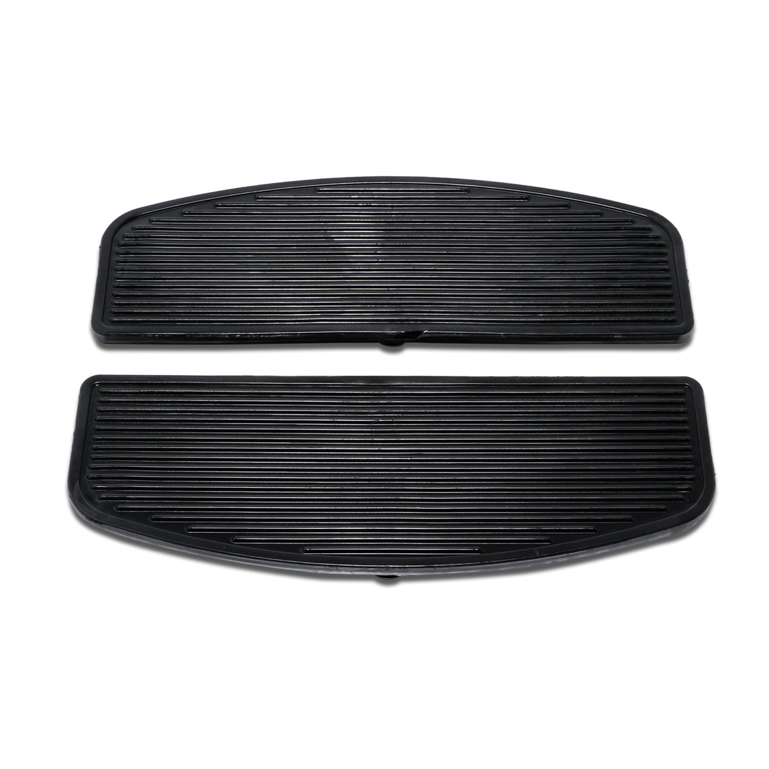 Senkauto Black Front Rubber Rider Insert Floorboard Footboards Foot Peg Boards For Harley Touring Electra Road Kind by Senkauto (Image #2)