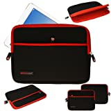 TECHGEAR® [SENTINEL PRO Sleeve (13)] - Slim Neoprene Zipped Protective Sleeve Case Cover with Anti-Shock Bubble Interior for Apple iPad Pro, Samsung Galaxy Tab Pro 12.2, Note Pro 12.2, Microsoft Surface Pro 4, Surface Pro 3, Yoga Tab 3 Pro, Dell Latitude 12 Rugged Tablet, and many more [RED]