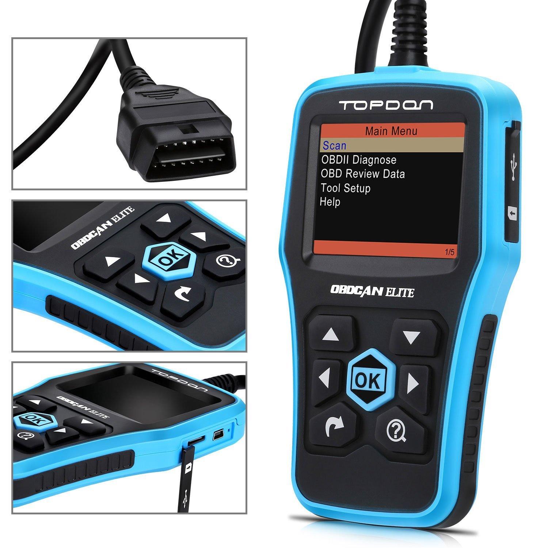 OBD2 Scanner, TT TOPDON ABS/SRS Scanner Universal CAN OBD2 Scanner OBDII  Car Computer Diagnostic Tool Car Code Reader for DIY and Professional  (Topdon