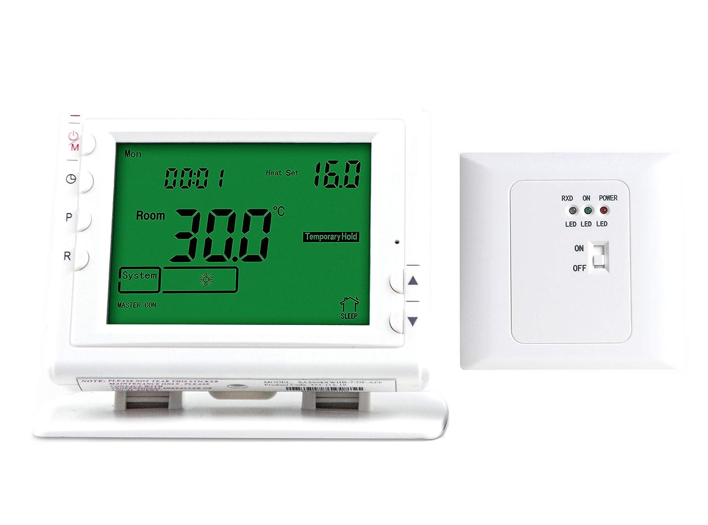 LICHIFIT programmable sans Fil de pièce Chauffage Thermostat pour système de Chauffage sous Sol Eau actionneur de Valve à Panneau de Chauffage électrique chaudière à gaz SWE