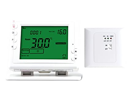 LICHIFIT termostato programable inalámbrico de calefacción para bajo Suelo Sistema de Calentamiento de Agua válvula actuador