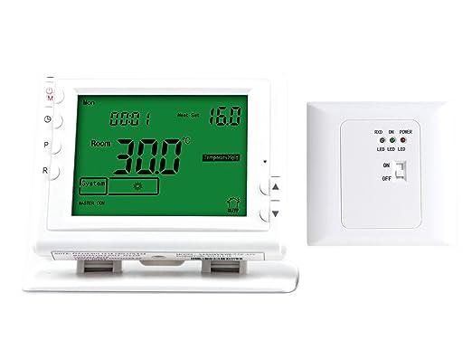 LICHIFIT termostato programable inalámbrico de calefacción para ...
