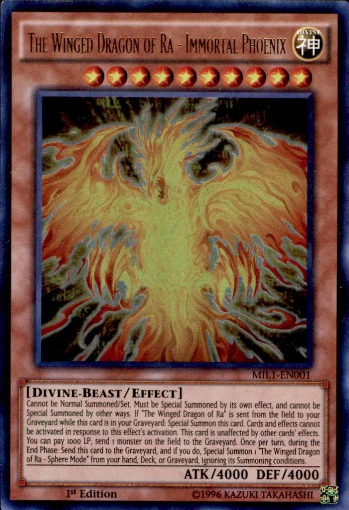 Yugioh MIL1-EN001 The Winged Dragon of Ra Immortal Phoenix Ultra Rare 1st Ed