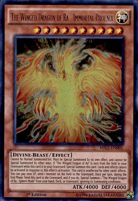 MIL1-EN001 Immortal Phoenix - Millennium Pack 1-1st Edition Yu-Gi-Oh! The Winged Dragon of Ra Ultra Rare by Yu-Gi-Oh!