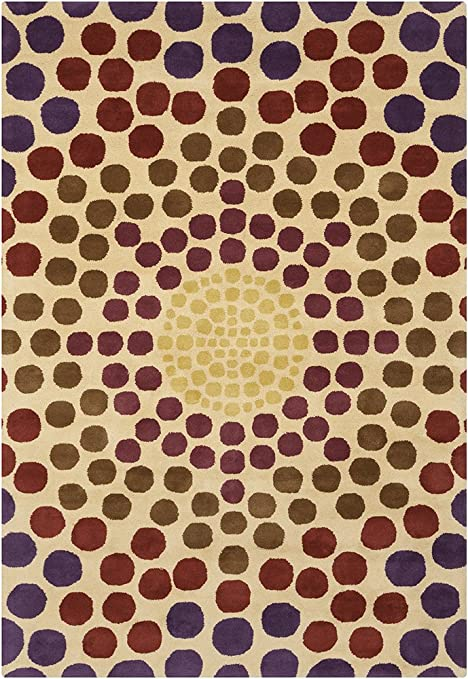 Amazon Com Chandra Allie Area Rug 5 By 8 Purple Red Brown Gold