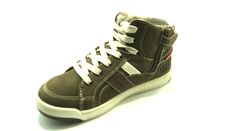 Grünland Junior - Zapatillas de Material Sintético para niño marrón Kaki marrón Size: 31 9C4qGqt