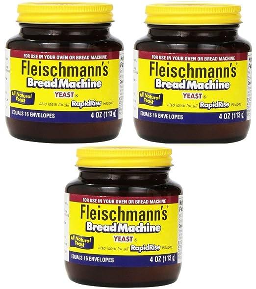 Fleischmanns Yeast para máquinas de pan, tarros de 4 onzas ...