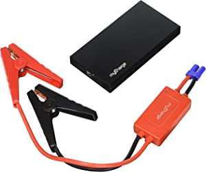 myCharge Adventure Jumpstart Portable Charger 6,600 mAh External Battery Pack with Detachable Jumper Cables - Black