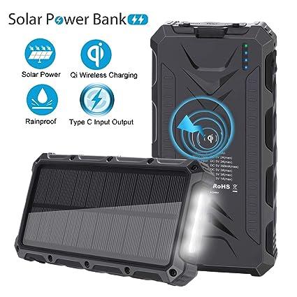 Amazon.com: Cargador solar SendowTek, cargador portátil ...