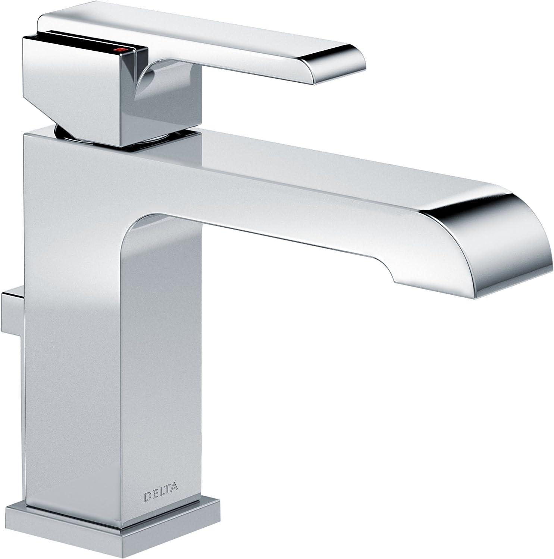 Delta Faucet Ara Single Hole Bathroom Faucet Single Handle Bathroom Faucet Chrome Bathroom Sink Faucet Metal Drain Assembly Chrome 567lf Mpu 7 63 X 1 56 X 5 38 Inches