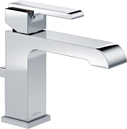 delta ara single handle bathroom faucet with metal drain assembly chrome 567lf mpu - Delta Single Handle Bathroom Faucet