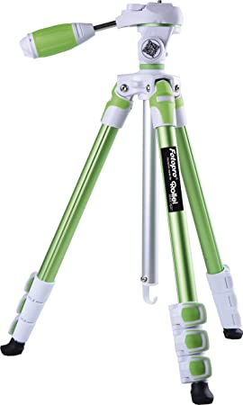 Fotopro S3 4 Section 57 Inch Aluminum Photo  amp; Video Tripod with 3 Way Panhead Payload   2.5kg  Green