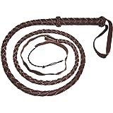 Bull Whip Real Leather Dark Brown BULLWHIP 6 Foot 4 Plait BULL WHIP