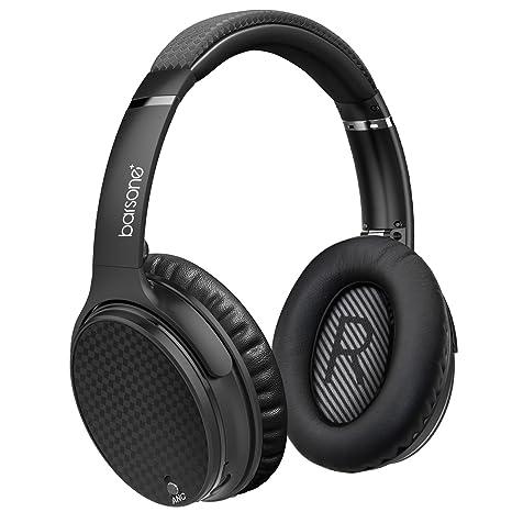 Barsone Cascos con Cancelación de Ruido Activo, Auriculares Inalámbrico Bluetooth con Micrófono, Auriculares Estéreo