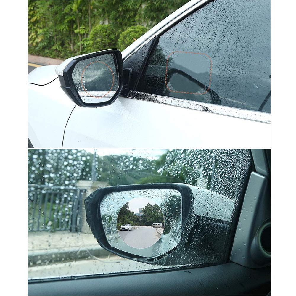 BENBW 1Set Car Rearview Mirror Protective Film Anti-Fog Protective Film Anti-Glare Anti-Scratch Rainproof (with Scraper and Alcohol pad) by BENBW (Image #9)
