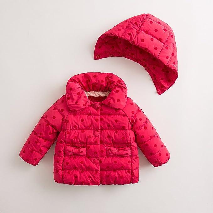 marc janie Girls Winter Thick Fur Collar Ultra Light Down Jacket