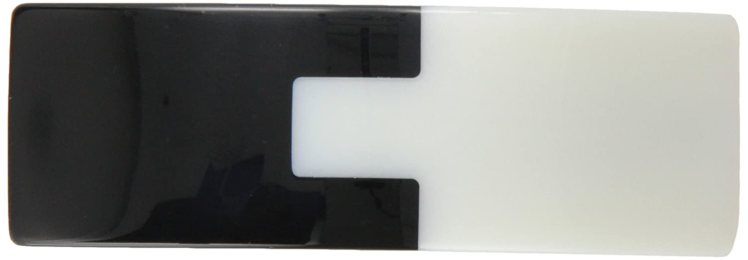Caravan Interlocking Puzzle Combining Black with White In This Modern Handmade Automatic Barrette 1167