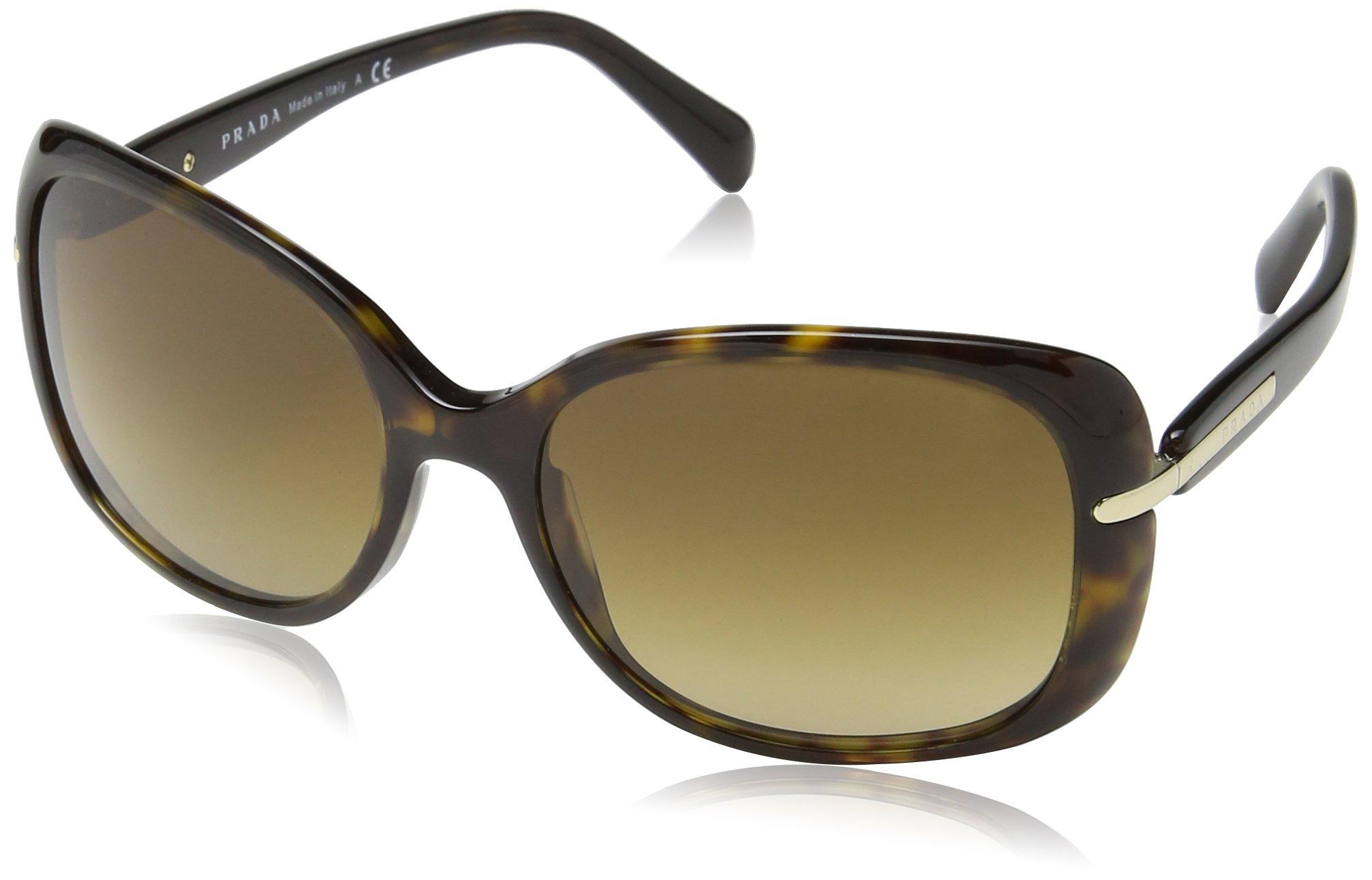 Prada SPR 08O 2AU-6S1 Havana Sunglasses SPR08O - 57mm by Prada