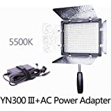 YONGNUO YN300 III 5500K with AC Power Adapter Kit ,On Camera Video Light Photographic Continuous Output Lighting