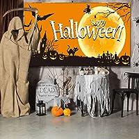 BOUTIQUES® Tapiz Halloween, Bandera Halloween, Tela Grande Colgante de Pared Telón de Fondo Banner Calabaza Espeluznante…