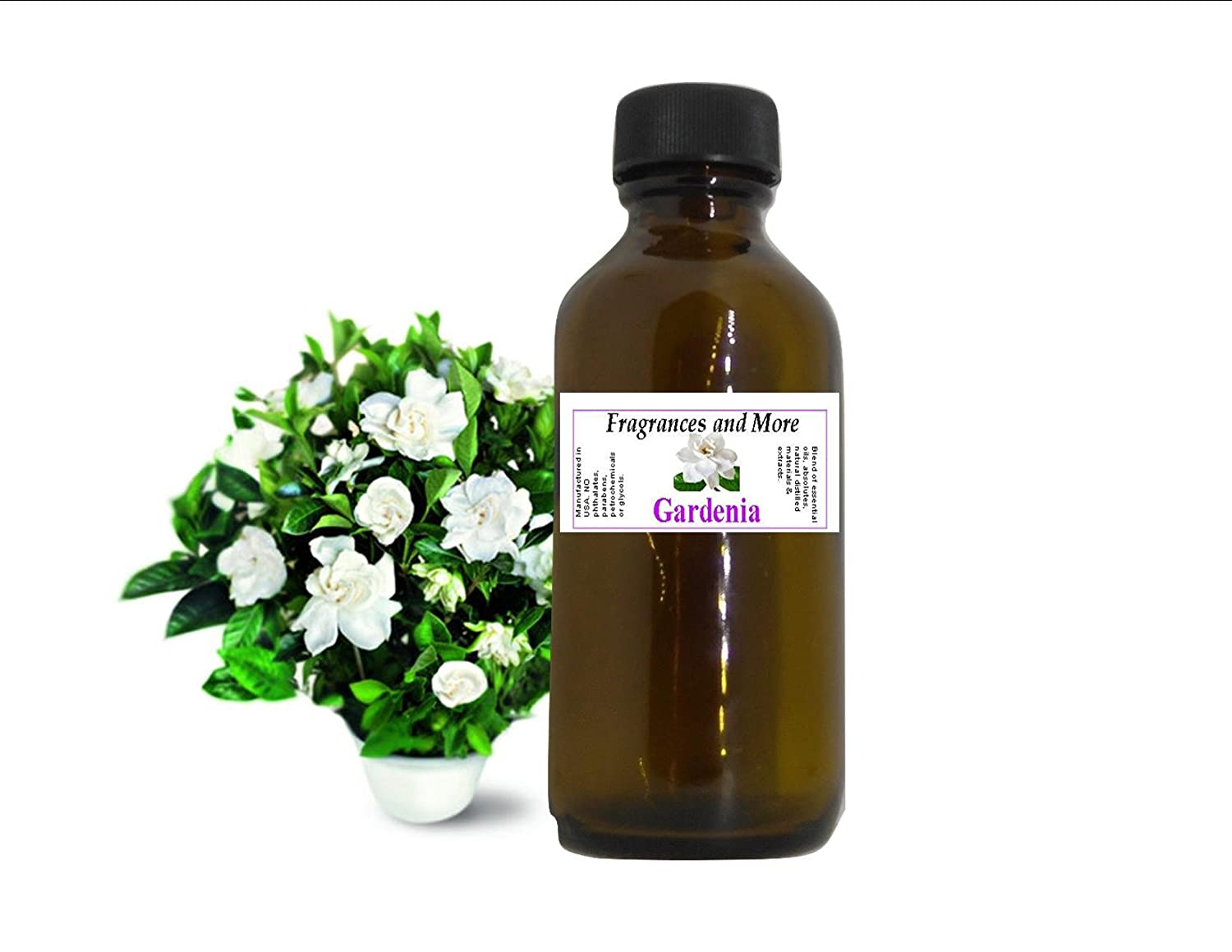 GARDENIA FRAGRANCE OIL| For Soap Making| Candle Making| For Use with Diffusers| Add to Bath & Body Products| Home and Office Scents| 2 oz amber glass bottle