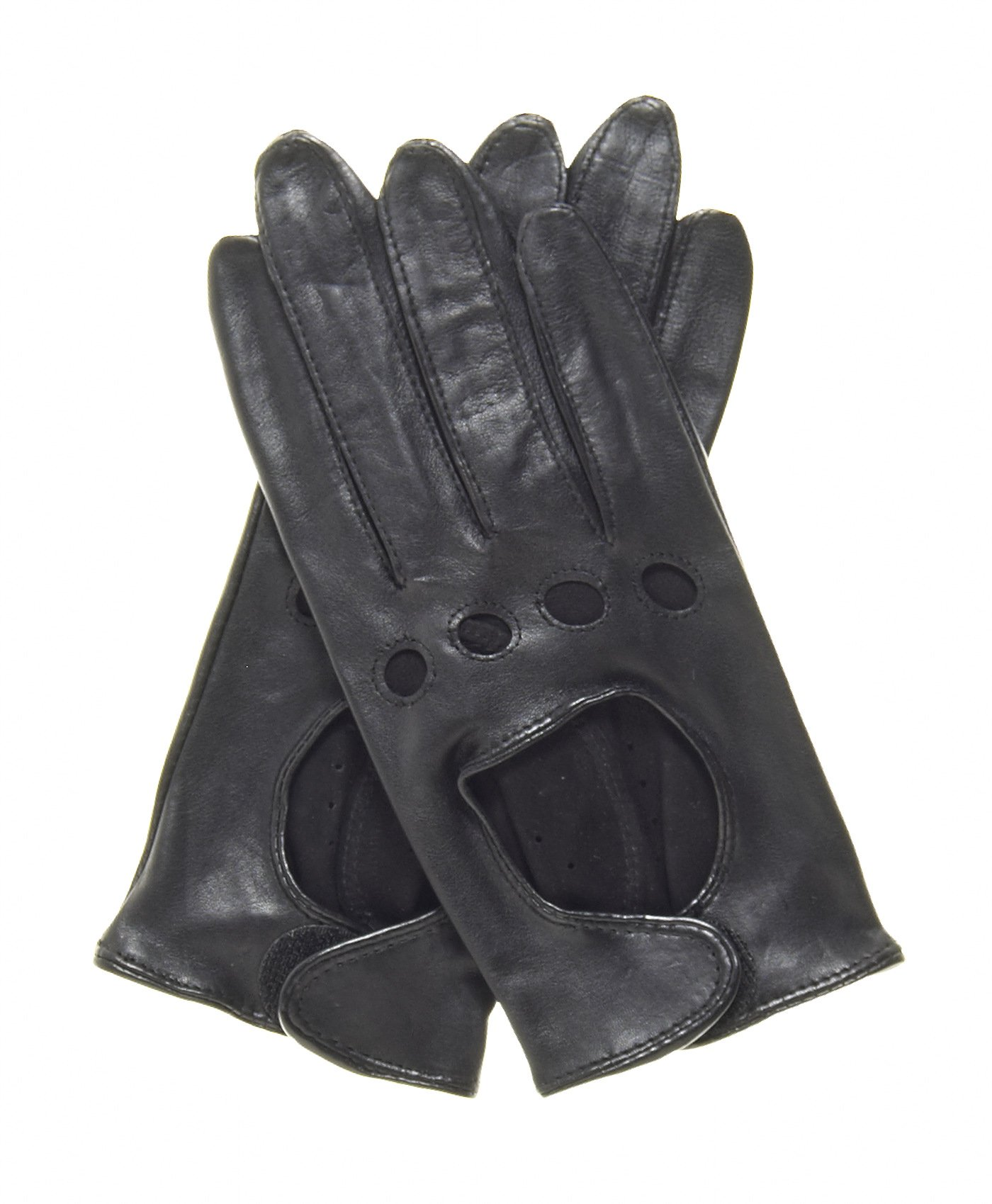 Pratt and Hart Women's Womens Leather Driving Gloves Size S Color Black
