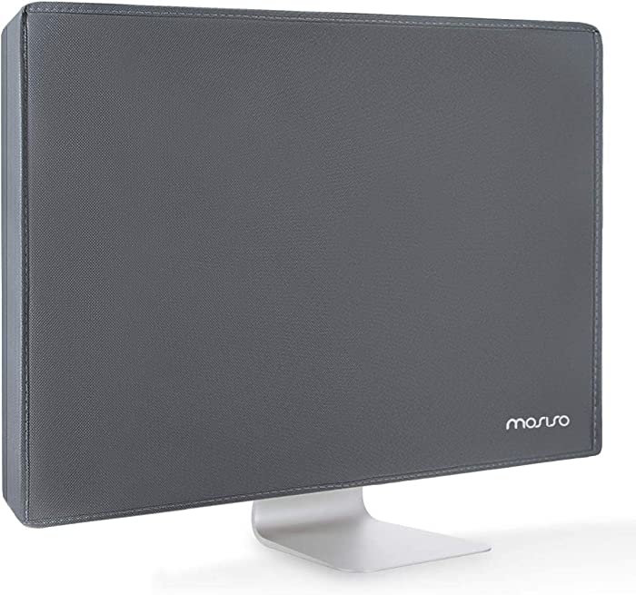 MOSISO Monitor Dust Cover 19,19.5,20,20.5,21 inch Anti-Static Polyester LCD/LED/HD Panel Case Screen Display Protective Sleeve Compatible with 19-21 inch PC, Desktop Computer and TV, Space Gray