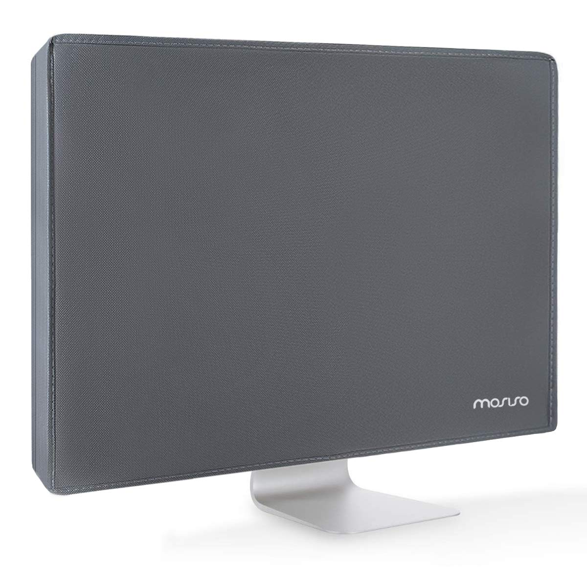 MOSISO Monitor Dust Cover 26, 27, 28, 29 Inch Anti-Static Polyester LCD/LED/HD Panel Case Screen Display Protective Sleeve Compatible with 26-29 Inch iMac, PC, Desktop Computer and TV, Space Gray by MOSISO