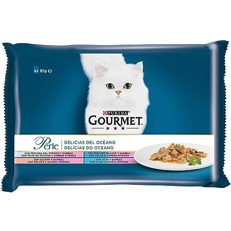 Purina Gourmet Perle comida para gato Delicias del Oceano 12 x [4 x 85 g