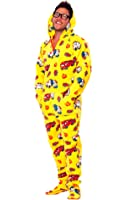 Jumpin Jammerz Yellow Fire Trucks Footed Pajamas