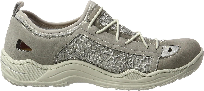 Rieker Damen Sneaker N4105 42 grau , Damen Größen:38, Farben:grau