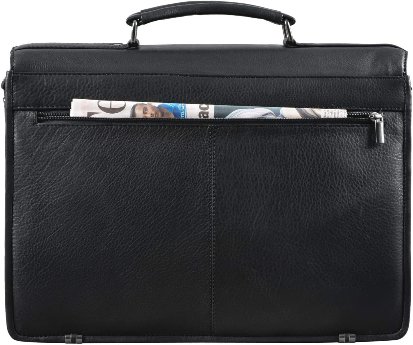 Colour:Anthracite STILORD Miguel Classic Briefcase Leather Men Portfolio for Business Office Shoulder Bag for Laptop 15.6 inches