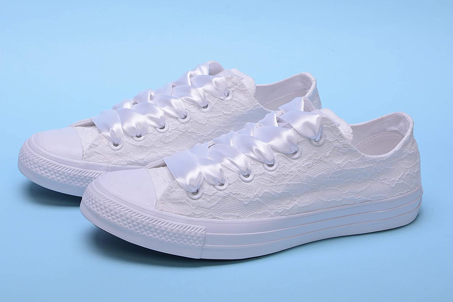 White Personalized Wedding Sneakers
