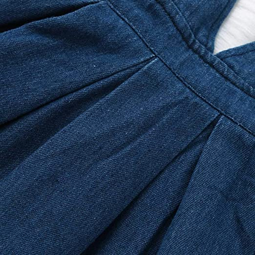 3e78b689f9e Denim Bib Pants Skirts For Little Girls 6 Months Baby Girls 2~4 Years  Sleeveless Overalls Dress(Blue