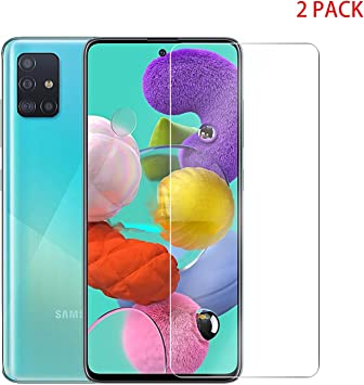 Image ofProtector de Pantalla Samsung Galaxy A51 Cristal Templado [9H Dureza][Alta Definición][Fácil de Instalar] para Samsung Galaxy A51 (2 Piezas