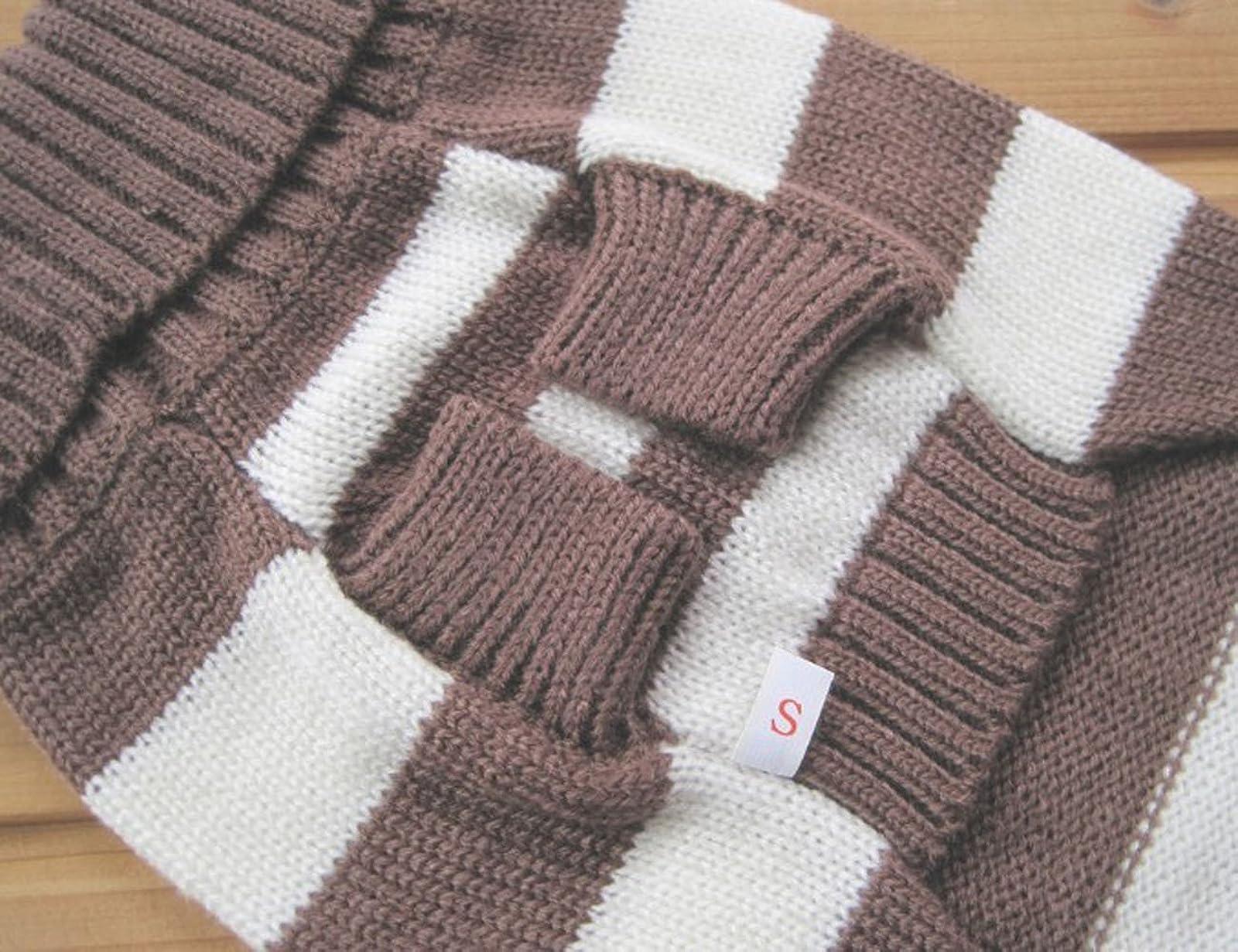 Turtleneck Stripes Pet Clothes Dog Wool Classic - 3