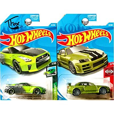 Hot Wheels Nissan Skyline GTR GT-R R34 Guaczilla in Green Set of 2: Toys & Games