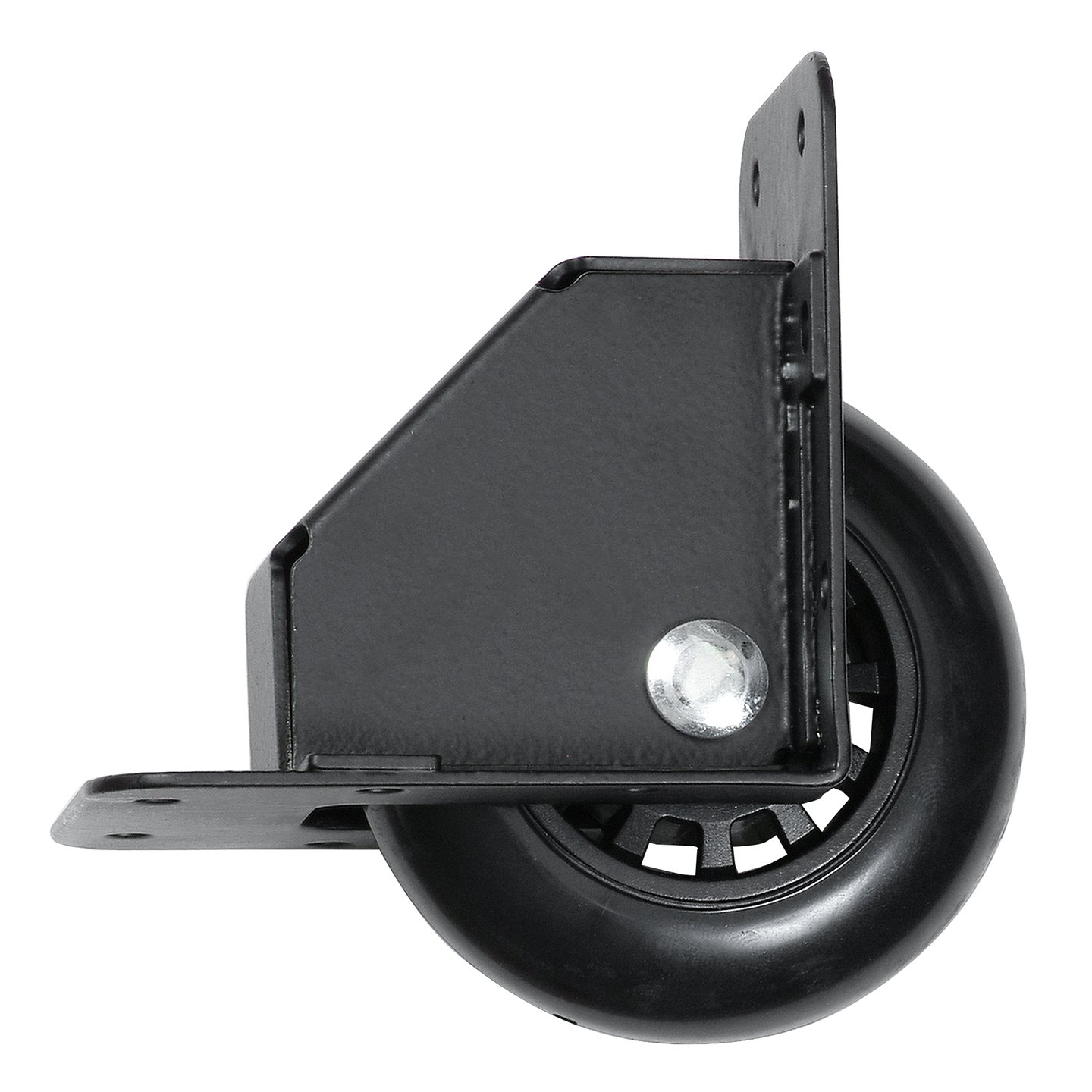 Reliable Hardware Company RH 9024BK A Recessed Tilt Caster Housing Medium Size 2.75 Inch Diameter Wheel Black