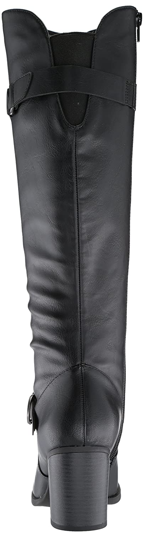 NATURAL SOUL Women's Trish Knee High Boot B076DVFYMG 9.5 W US|Black